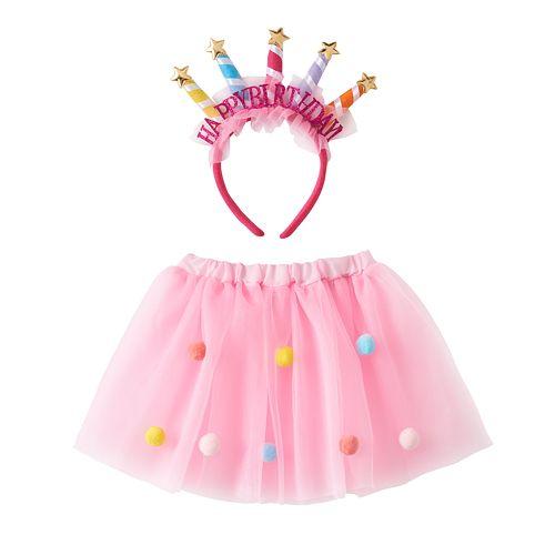 Girls 4-6x Birthday Crown & Tutu Set