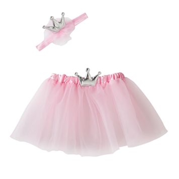 Girls 4-6x Silver Crown & Tutu Set