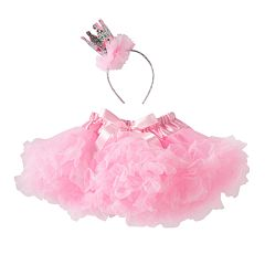 Girls 4-6x Glitter Crown & Tutu Set