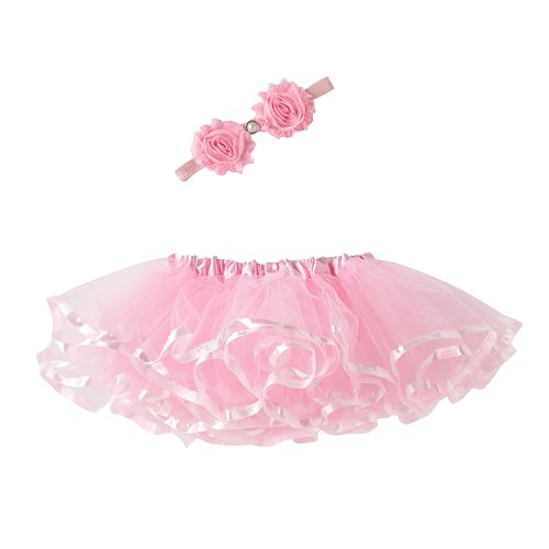 Girls 4-6x Rosette Headwrap & Tutu Set