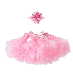 Girls 4-6x Pink Crown Headwrap & Tutu Set