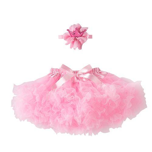 Girls 4-6x Pink Crown Headwrap & Tutu Set