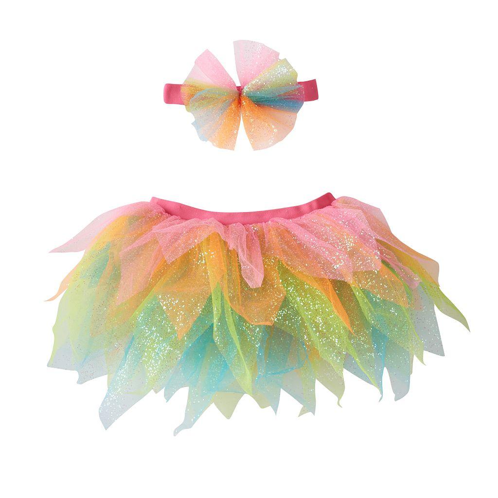 Girls 4-6x Rainbow Headwrap & Tutu Set