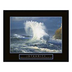'Integrity' Wave Framed Wall Art