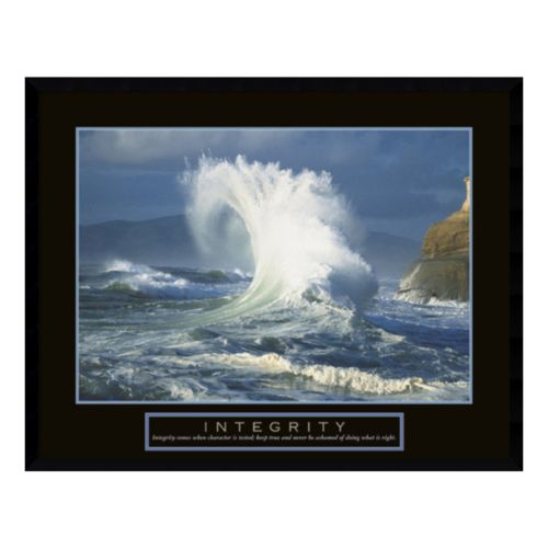 """Integrity"" Wave Framed Wall Art"