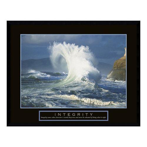"""Integrity"" Wave Framed Wall Art"