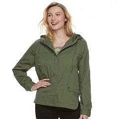 Juniors' Unionbay Lexie Twill Hooded Jacket