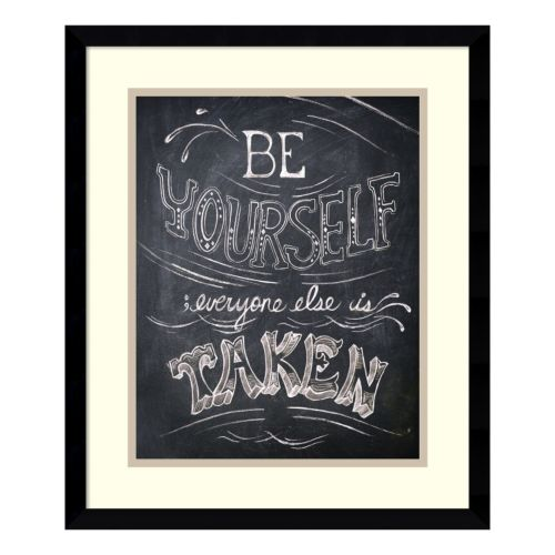 """Be Yourself"" Framed Wall Art"
