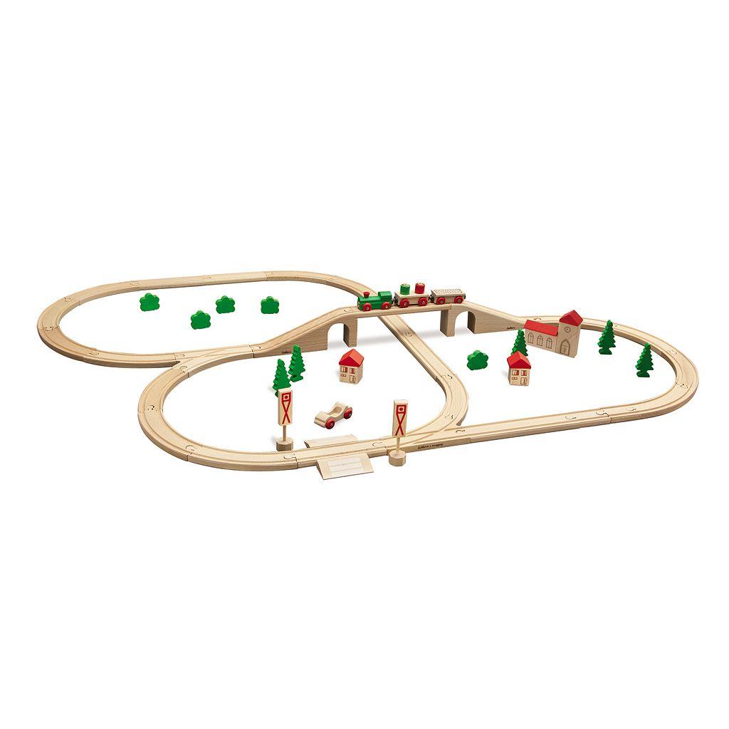 Eichhorn 55-pc. Wooden Train Set