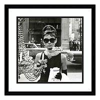 Audrey Hepburn Breakfast At Tiffany's Window Framed Wall Art