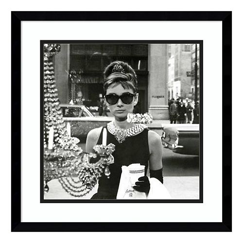 Audrey Hepburn Breakfast At Tiffany's Window Framed Wall Art