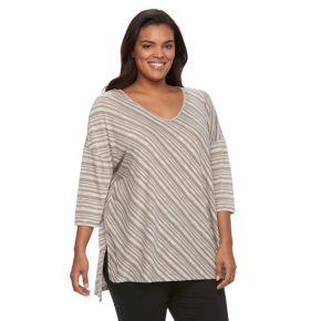 Plus Size SONOMA Goods for Life™ Striped Drop-Shoulder Top