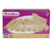 Eichhorn 10 pc Wooden Train Track Expansion Set