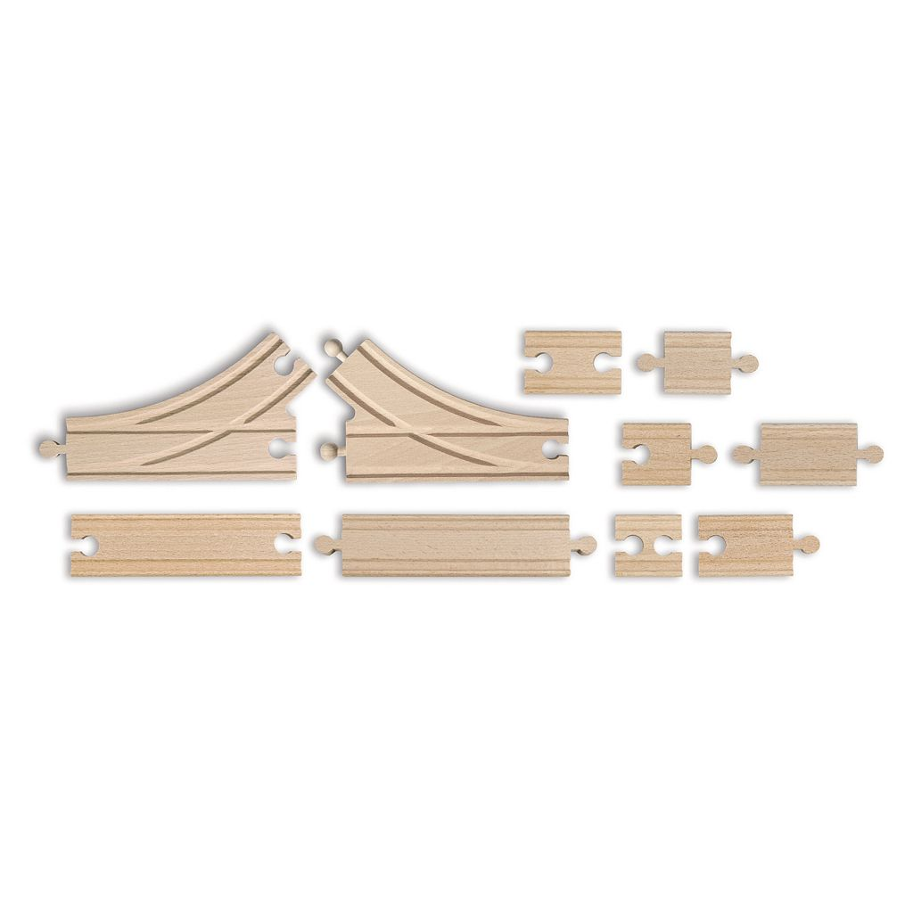 Eichhorn 10-pc. Wooden Train Track Expansion Set