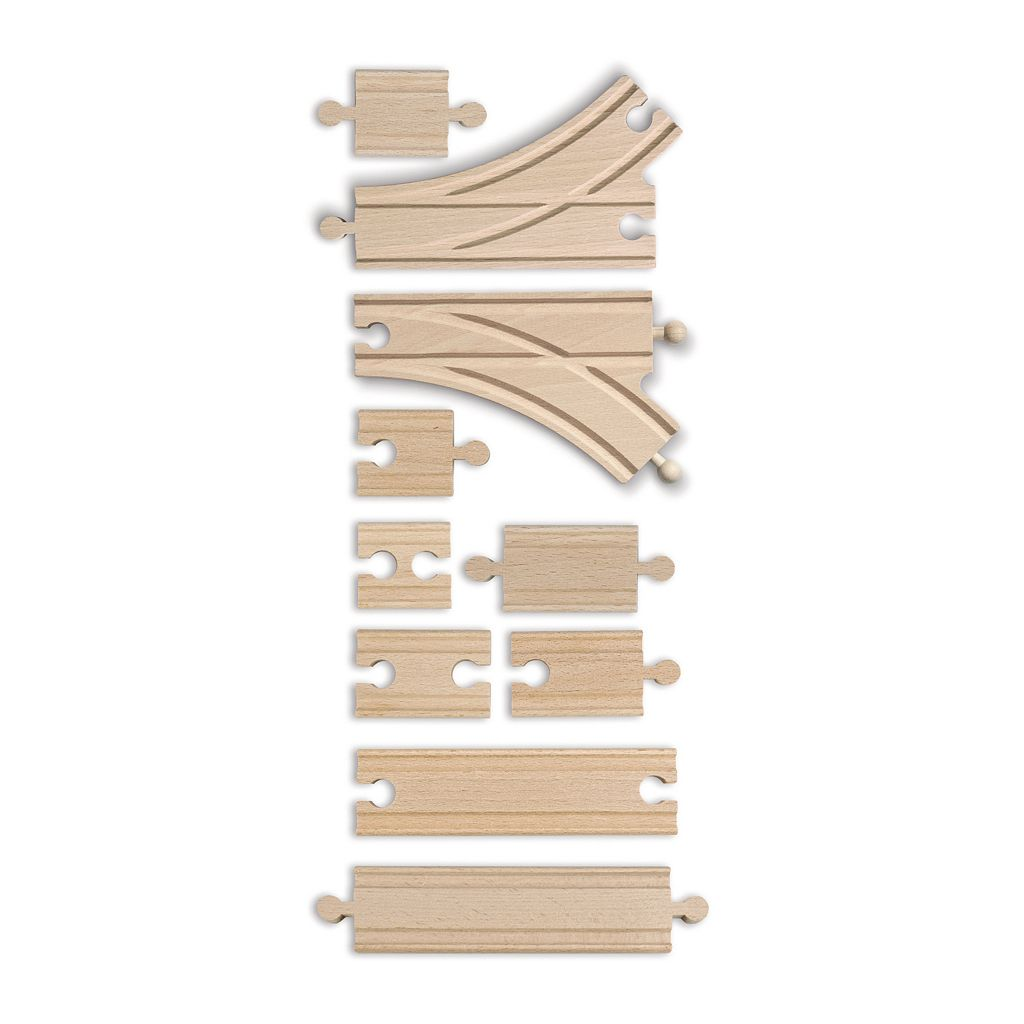 Eichhorn 10-pc. Wooden Train Track Expansion Set