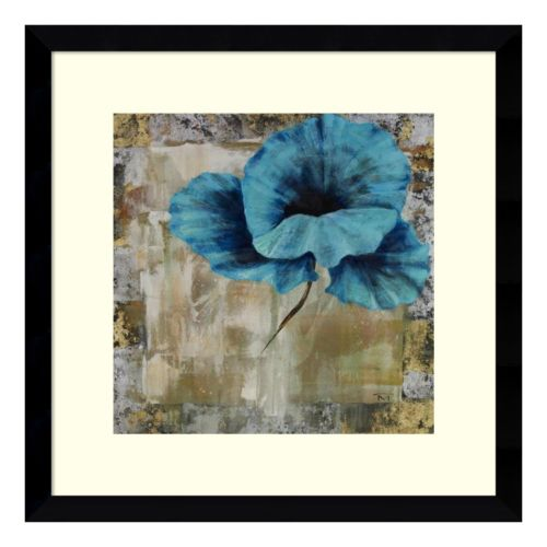 Poppy Blue Framed Wall Art