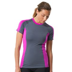 Women's Speedo Colorblock Mockneck Rash Guard
