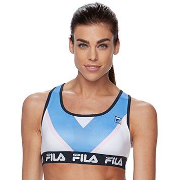 FILA SPORT® Bras: Mesh Lined Medium-Impact Performance Running Sports Bra