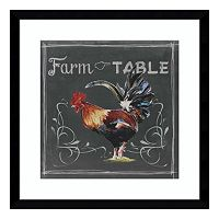 Chalkboard Farm Animals III Rooster Framed Wall Art