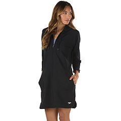 Women's Speedo Aqua Fitness French Terry Hooded Cover-Up
