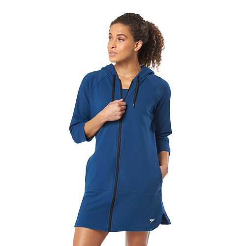 c6d53dda3b Women's Speedo Aqua Fitness French Terry Hooded Cover-Up