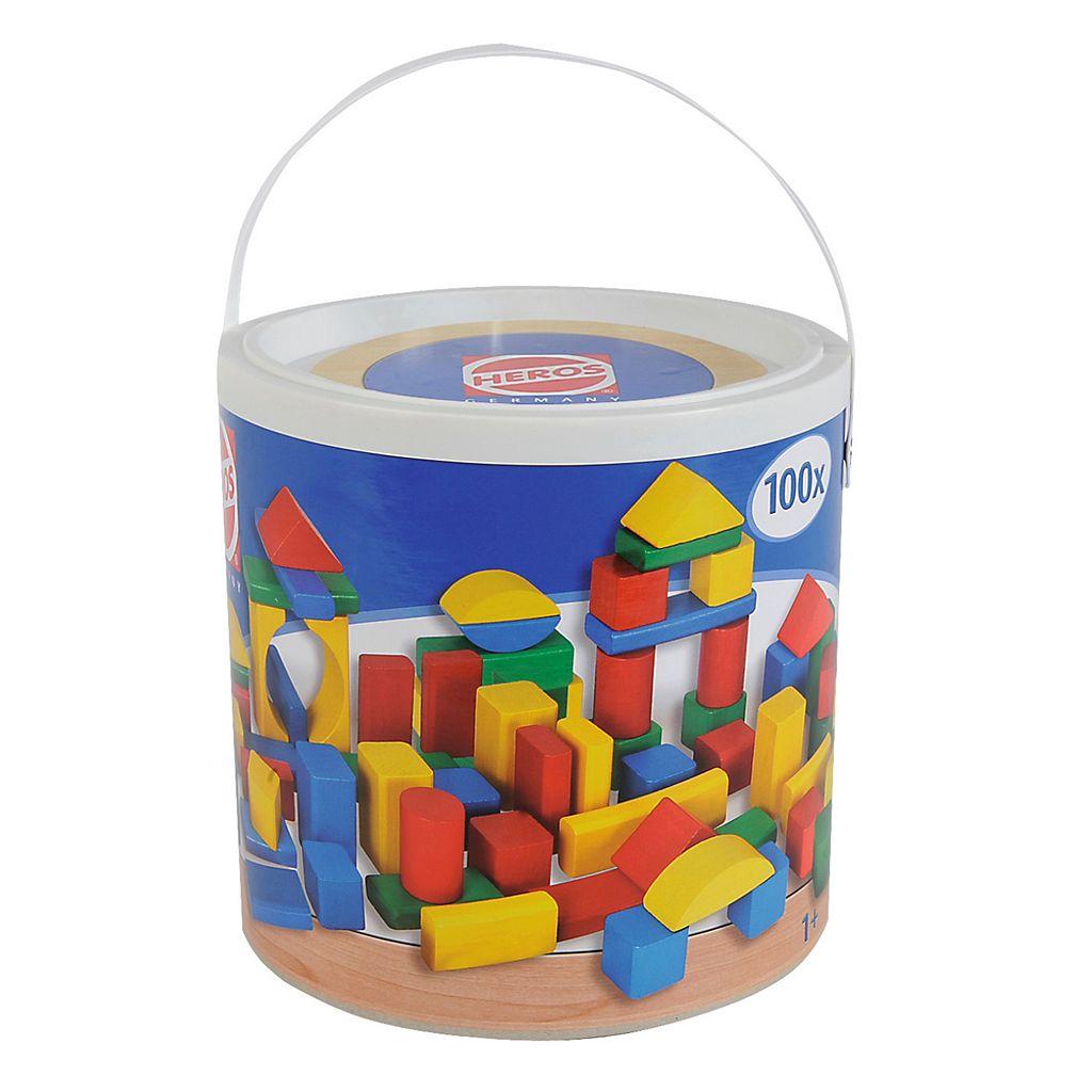 Eichhorn Heros 100-Piece Color Wooden Blocks
