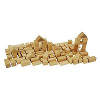 Eichhorn Heros 50-Piece Natural Wooden Blocks