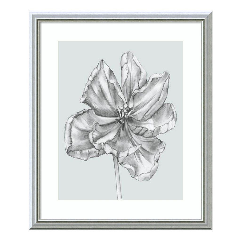 Silvery Blue Tulips IV Framed Wall Art