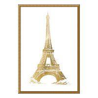 Eiffel Tower Metallic Print Framed Wall Art
