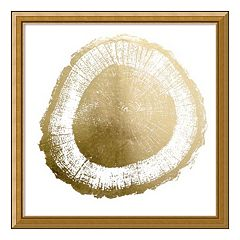 Tree Ring II Metallic Print Framed Wall Art