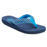 SO® Women's Straw Weave Thong Flip-Flops