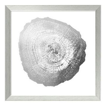 Tree Ring IV Metallic Print Framed Wall Art