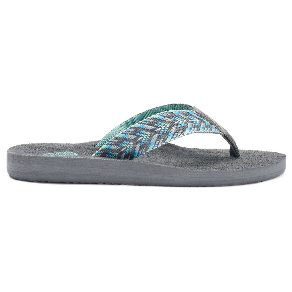 SO® Women's Chevron Woven Ribbon Thong Flip-Flops