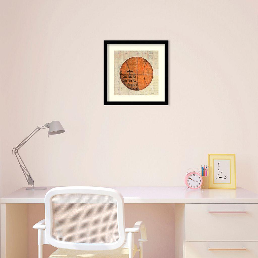 Play Ball II Basketball Framed Wall Art