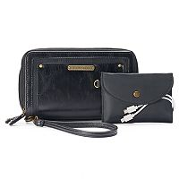 Stone & Co. Megan Phone Charging Double Zip Wallet