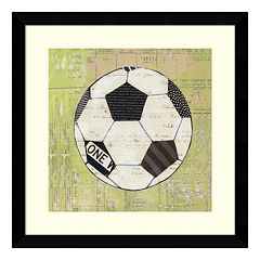 Play Ball I Soccer Framed Wall Art