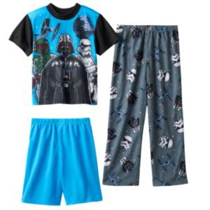Boys 4-12 Star Wars Pixel 3-Piece Pajama Set
