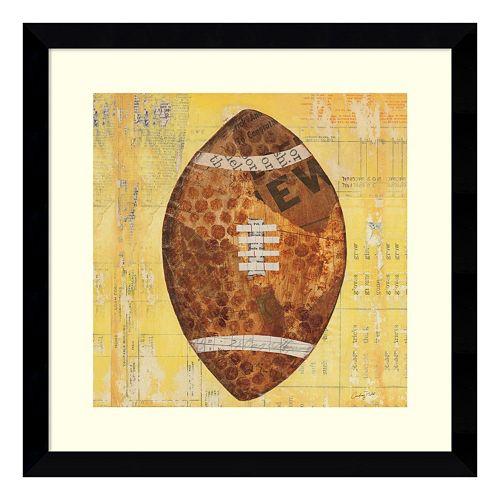 Play Ball II Football Framed Wall Art