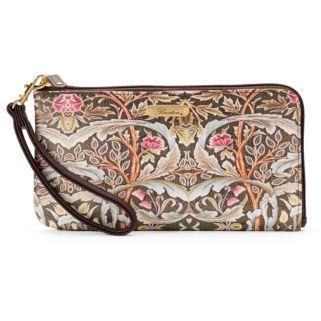 Buxton Art Nouveau Floral L-Zip Expandable Wallet