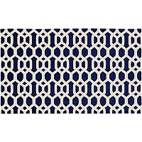 Ruggable® Washable Hexagon Fretwork 2 pc Indoor Outdoor Rug System