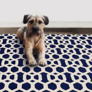 Ruggable® Washable Hexagon Fretwork 2-pc. Indoor Outdoor Rug System