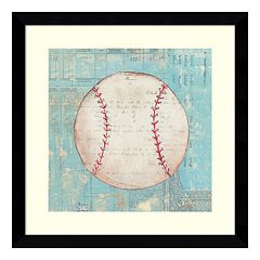 Play Ball I Baseball Framed Wall Art