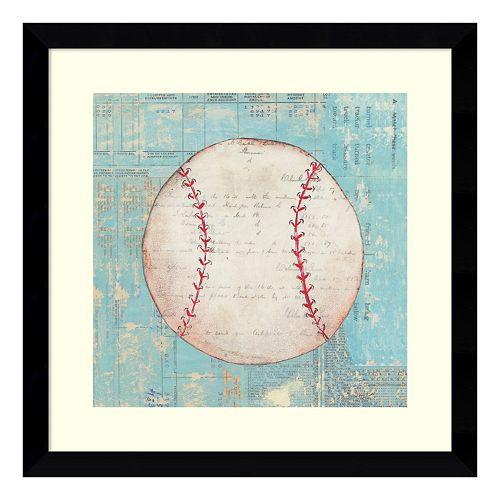 Play Ball I Baseball Framed Wall Art