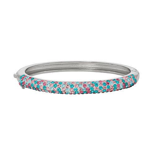 Junior Jewels Kids' Silver Tone Crystal Bangle Bracelet