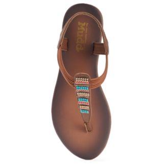 Mudd® Women's Beaded T-Strap Sandals