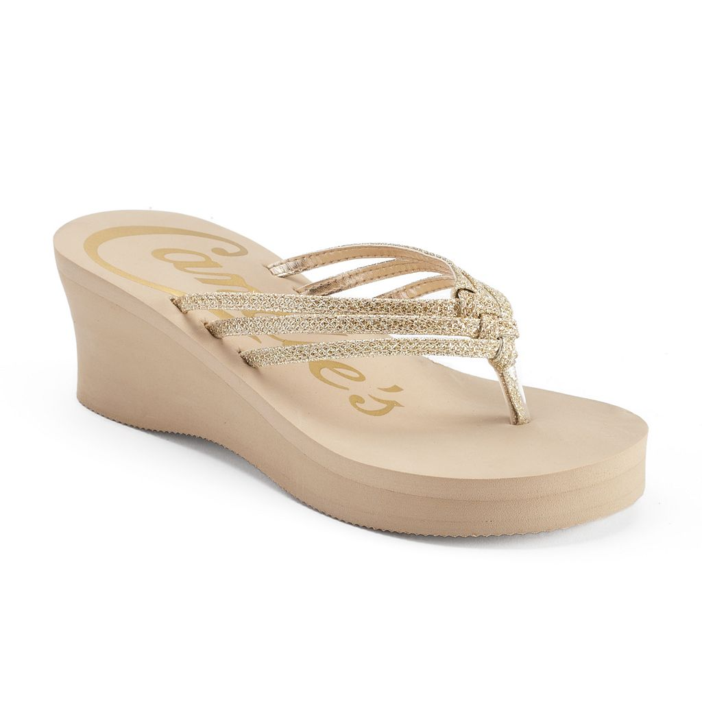 Candie's® Women's Bling Wedge Thong Sandals