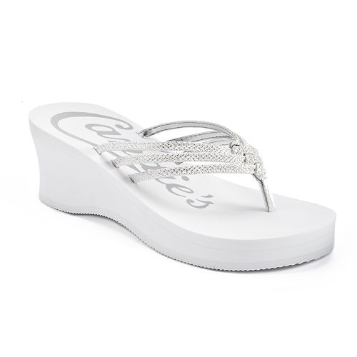 c9efa5671 Candie s® Women s Bling Wedge Thong Sandals
