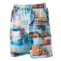 Men's Croft & Barrow® Tropical Microfiber Swim Trunks