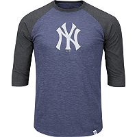 Men's Majestic New York Yankees Grueling Ordeal Raglan Tee