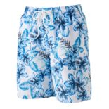 Men's Croft & Barrow® Floral Microfiber Swim Trunks